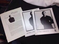 Jeffrey Osborne Media Packet With 2 Headshots & Info Sheet, R&B Pop Artist