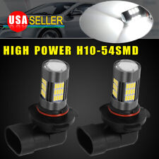 2PCS 6000K Super White H10 9145 120W LED Fog Driving Light DRL Bulbs