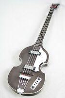 Hofner HIBBTBK Ignition Electric Violin Bass Guitar, Transparent Black