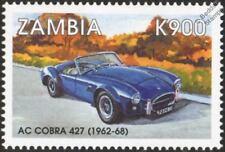 1962-1968 Shelby AC COBRA 427 Mint Automobile Sports Car Stamp (1998 Zambia)
