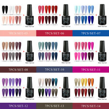 7x/set RBAN NAIL Glitter UV Gel Nail Polish Matte Top Coat Soak off Manicure 8ml