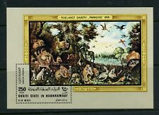 R553  Aden/Hadhramaut  1968  art paintings Savery  animals   sheet   MNH
