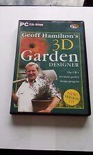GEOFF HAMILTON'S 3D GARDEN DESIGNER PC CD-ROM.  EXCELLENT CONDITION. GARDENING.