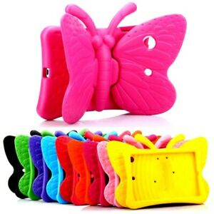KIDS BUTTERFLY SHOCKPROOF COVER CASE  FOR IPAD MINI 1/2/3/4/5 IPAD 2/3/4/5/6/9.7