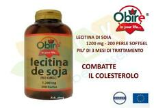 COLESTEROLO LECITINA DI SOIA 1200 MG 200 PERLE OMEGA 3  SALUTE CUORE FEGATO