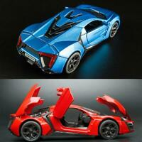 Lykan Hypersport 1:32 Diecast Model Car Sound&Light Pull Back Cars Toy Gifts