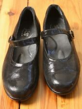 Tripad SAS 7.5 W Maria Black Shiny Snake Leather Mary Jane Comfort Shoes