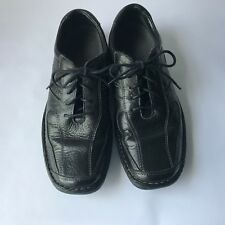 Pre-Owned Hush Puppies Men's Black Leather Shoes With Laces Size 10 M