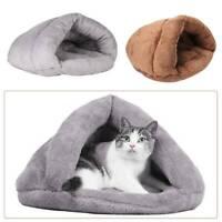 Pet Cat Dog Nest Bed Puppy Soft Warm Cave House Winter Sleeping Bag Mat Pad UK