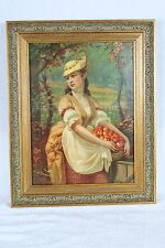 New frame and glass AUTUMN Chromolithograph 1880 H. Hallett & Co Portland, Maine