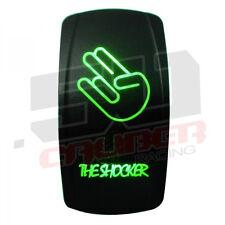 Shocker Design On/Off Rocker Switch Waterproof Green Illuminated 12V 24V ATV UTV