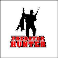 Predator Hunter Wolf Fox Coyote Hunting Car Window Laptop Decal