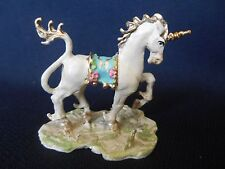 VINTAGE but NEW MINIATURE HAND PAINTED PEWTER UNICORN