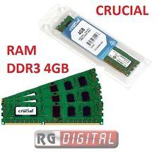 MEMORIA RAM DDR3 4GB CRUCIAL 4 GB 1600 CL11 1600 Mhz Pc3  PC DESKTOP