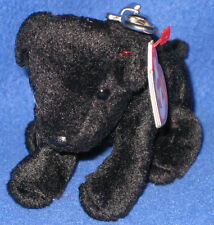 TY LUKE the BLACK LAB BEANIE BABY (METAL) KEY CLIP - MINT with MINT TAGS