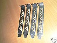 4x Slotblech gelocht - Slotblech Lüftungslöcher bracket - NEU