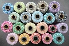 (€0,15/m)=Bakers Twine=10m x1mm=ZWEIFARBIG=ohne Rolle=Baumwolle=Garn=Blogger====