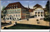 Bad Elster Sachsen Postkarte ~1910/20 Sachsenhof Partie am Kurtheater Theater