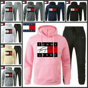 Tommy1 Mens Tracksuit Set Hoodie Bottoms Sweat Pants Jogging Sports Trousers Sui