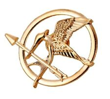 Hunger Games Mockingjay Gold Brooch Pin Badge Katniss Arrow Bird Badge Jewellery