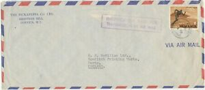"""JAMAICA 1966 National Stadium 1 Sh. Tied by CDS """"SHOOTERS HILL / JAMAICA"""" cover"""