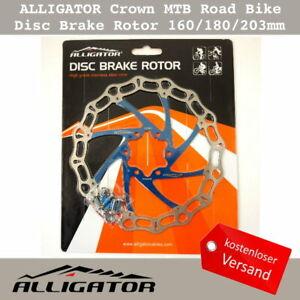 ALLIGATOR Crown MTB Rennrad Disc Bremsscheiben Rotor 160/180/203mm - Blau