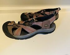 KEEN SPORTS MENS SIZE 11 LEATHER & CANVAS SUMMER SANDALS -WATERPROOF EXCELLENT