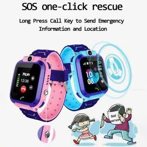 Q12 Montre Connectée Enfant Etanche IP67  Appel Vocal, SOS, Tracker de Position