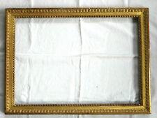 RARE CADRE, bois sculpté et doré, feuille d'or, époque LOUIS XVI, fin du 18ème !
