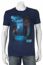 Doctor Who & the Daleks T-Shirt Tardis Police Box Dr. - Men's S - New w/Tags!