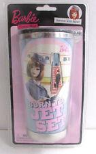 """Barbie Stewardess Travel Mug """" Born To Jet Set"""" 2009 Unopened NEW"""
