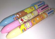3 X New San x Rilakuma 6 colors Black Red Blue Green Yellow Purple Ballpoint Pen