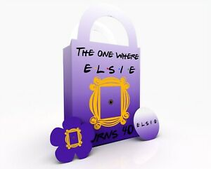 Personalised Friends TV Show Gift Bag, Party Bag, Gift Treat Bag Purple