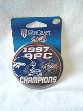 "1997 AFC Champions Denver Broncos Super Bowl XXXII Pinback 3.5"" NWT"