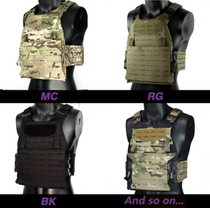 Tactical Molle Plate Carrier Chest Rig Vest with Magnetic Quick Release Buckle