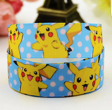 Pikachu Character 25mm Grosgrain Ribbon for Card Making & Bows