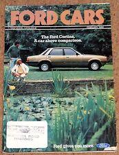 1982 FORD CARS Sales Brochure inc Capri Escort XR3 Fiesta XR2 Escort Granada