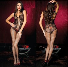 Sexy women lingerie multi straps bodystocking crotchless bodysuit nightwear