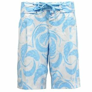 Nike ACG White Blue Patterned Polyester Womens Shorts 264348 104 A20E