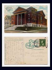 SOUTH DAKOTA SIOUX FALLS BAPTIST CITY TEMPLE 1911 TO MRS JAMES SHAW, MADISON, SD
