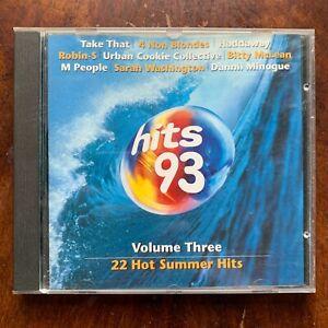 Hits 93 Vol.3 CD 1993 Rock Pop Music Compilation