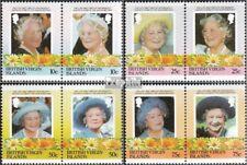Jungferninseln 519-526 Koppels (compleet Kwestie) MNH 1985 Queen Mother Elizabet