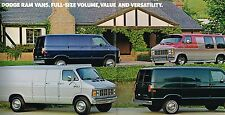 1985 Dodge RAM VAN/WAGON Brochure/Catalog with Color Chart: B150,B250,B350,MAXI