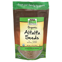 NOW Foods Alfalfa Seeds for Sprouting, Organic, 12 oz.