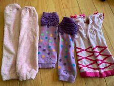 EUC Baby Leg Warmers, 3 pairs Girls pink purple
