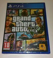 GRAND THEFT AUTO V PS4 GAME NUOVO SIGILLATO UK PAL Sony PlayStation 4 inglese GTAV 5