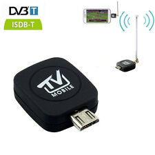 DVB-T ISDB-T Micro USB Tuner Mobile HD TV Receiver Dongle Android Phone Tablet