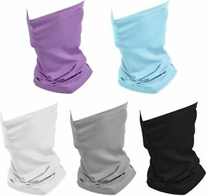 5 Packs Summer Neck Gaiter Mask Cooling Bandana Mask for Men Women