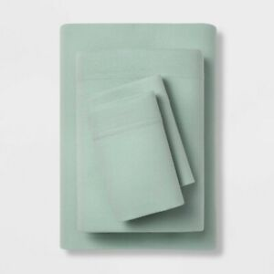 4pc ROOM ESSENTIALS Solid Jersey Sheet Set | KING | Mint | 🆕