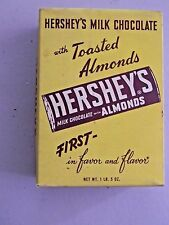 Hershey's Milk Chocolate With Toasted Almonds Vintage Candy Box - Empty 1LB 5OZ